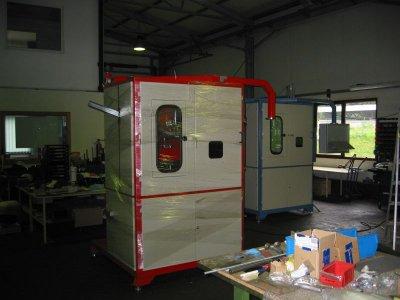 Für den Export bereitgestellte Schweißmaschinen