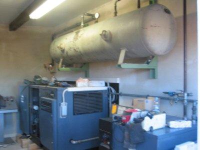 Kompressorraum installation