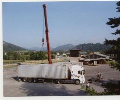 Demontage und Verladen einer kompletten Sägewerksanlage nach Südafrika mit anschließender Montage