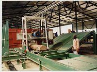Produktion von Schnittware bei AFRI - LOGS in Südafrika. Diese Anlagen wurden von Karl Kranz Sondermaschinenbau in Südafrika geplant und gebaut